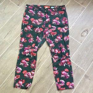 Anthropologie Cartonnier Charlie Ankle Floral Pant